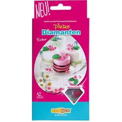 Tårtdekoration Diamanter Rosa