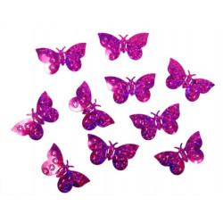 Konfetti Fjärilar Hot Pink