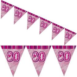 Flaggirlang 80 år Pink