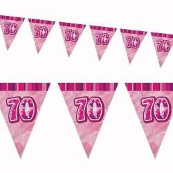Flaggirlang 70 år Pink