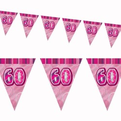 Flaggirlang 60 år Pink