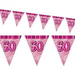 Flaggirlang 50 år Pink