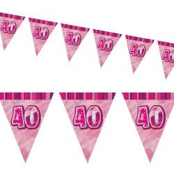 Flaggirlang 40 år Pink