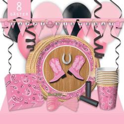 Kalaspaket Cowboy Rosa Lyx 8 pers