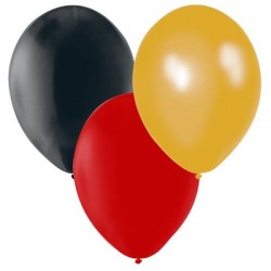 Ballonger Svart, Röd, Guld