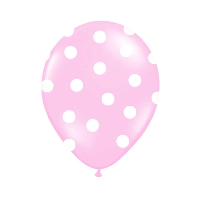 Rosa Polka Dot Ballonger