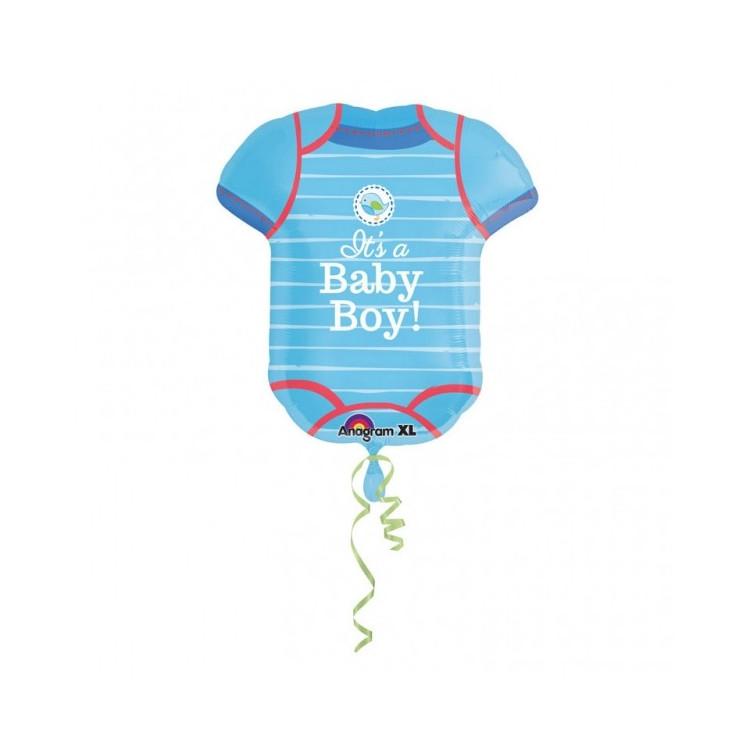 Folieballong Baby body Blå