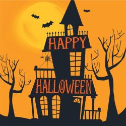 Haunted Halloween Kaffeservetter