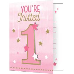 Little Pink Star Inbjudningskort