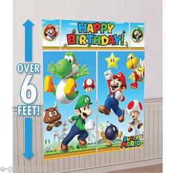 Super Mario Väggdekoration 5 delar