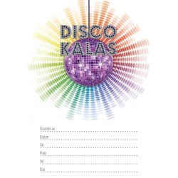 Inbjudningskort Discofest