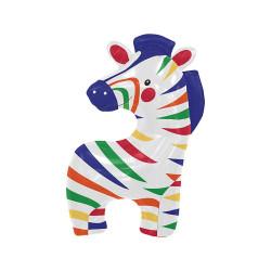 Folieballong Färgglad Zebra