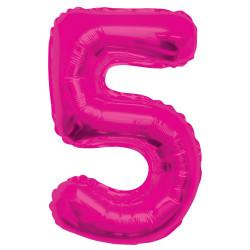 Folieballong 5 Rosa