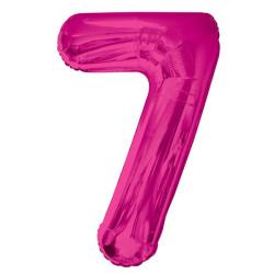 Folieballong 7 Rosa