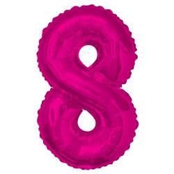 Folieballong 8 Rosa