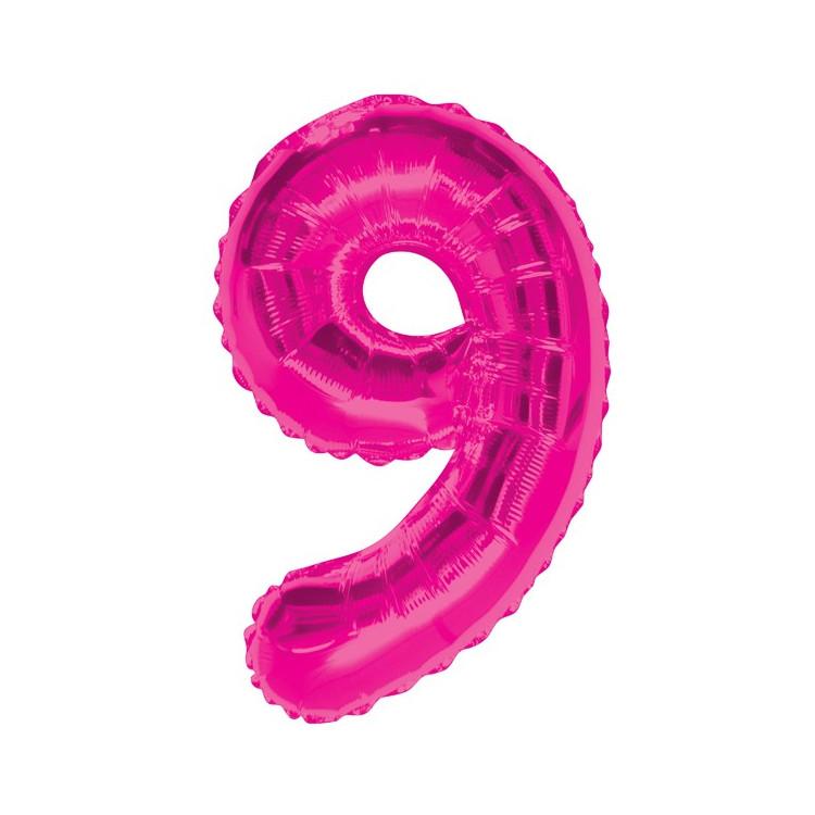 Folieballong 9 Rosa