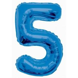 Folieballong 5 Blå