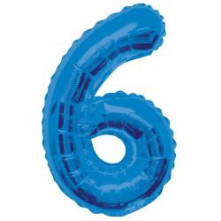 Folieballong 6 Blå