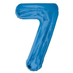 Folieballong 7 Blå