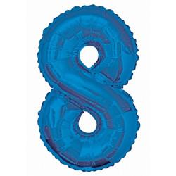 Folieballong 8 Blå