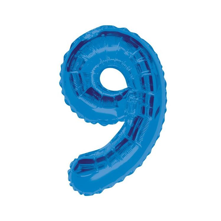 Folieballong 9 Blå