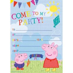 Peppa Pig Inbjudningskort