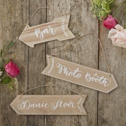 Träskyltar för Bröllop