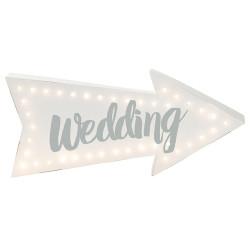 Bröllopsskylt Lysande