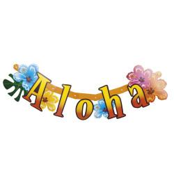 Banner Girlang Hibiscus Aloha