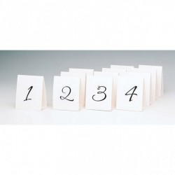 Bordsnumrering Vit