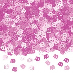 Konfetti 40 rosa