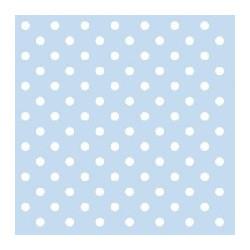 Servetter Babyblå Dots