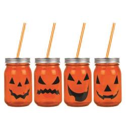 Glasburk med Sugrör Halloween
