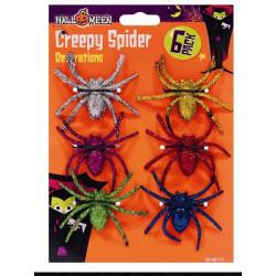 Bordsdekoration Spindlar Glitter