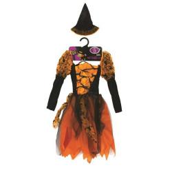 Maskeradklänning Halloween Orange