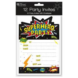 Superhjältar Inbjudningskort 12 st