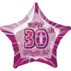 Folieballong 30 år Rosa