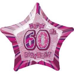Folieballong 60 år Rosa