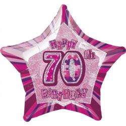 Folieballong 70 år Rosa