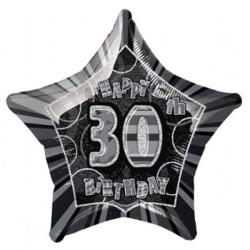 Folieballong 30 år Svart
