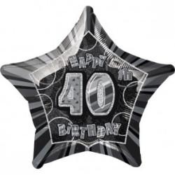 Folieballong 40 år Svart