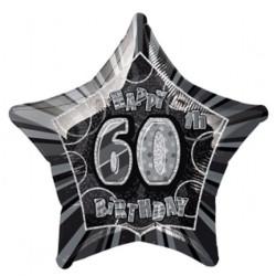 Folieballong 60 år Svart