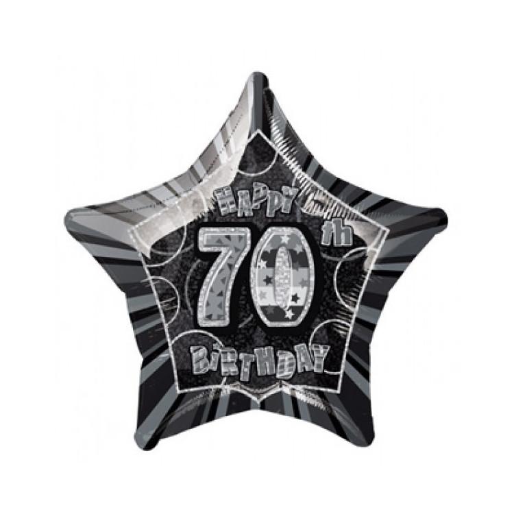 Folieballong 70 år Svart