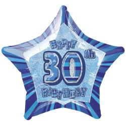 Folieballong 30 år Blå