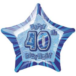 Folieballong 40 år Blå