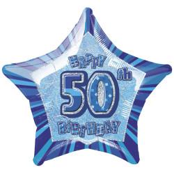 Folieballong 50 år Blå