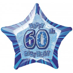 Folieballong 60 års Blå