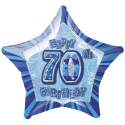 Folieballong 70 år Blå