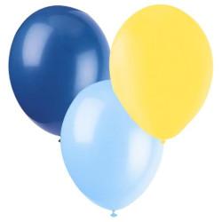 Ballonger Blå, Gul,Ljusblå