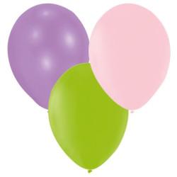 Ballonger Lila, Rosa, Lime